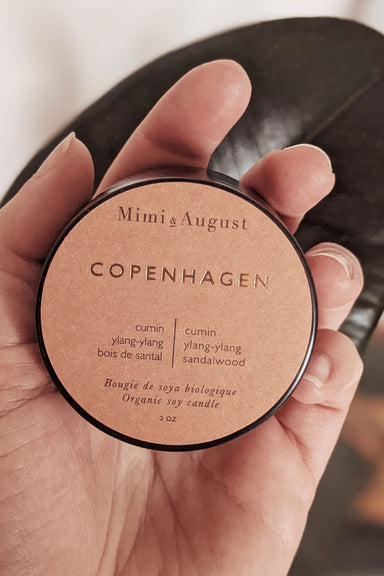 Copenhagen - scented soy wax mini candle 2oz made in canada Mimi & August