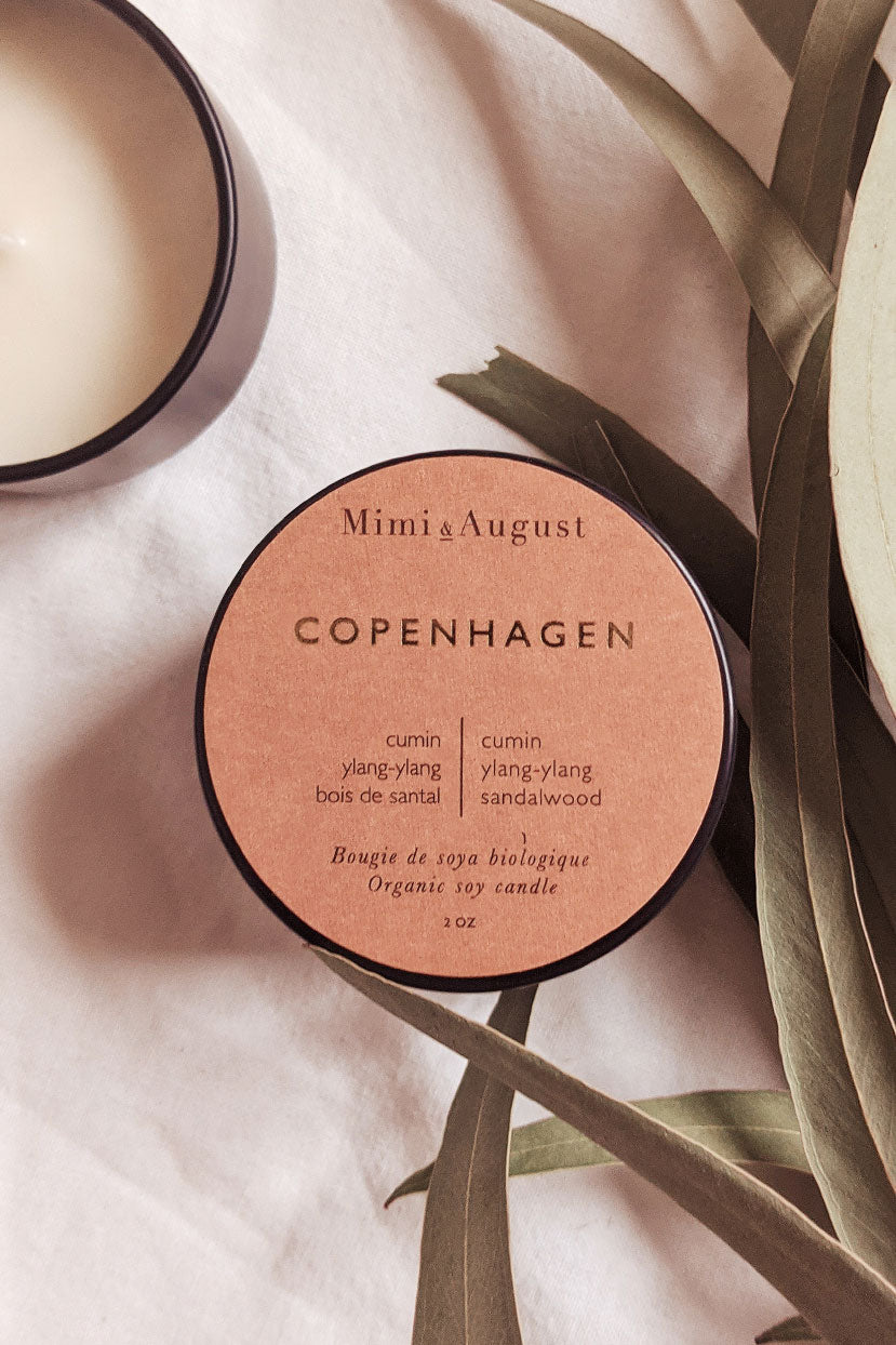 Copenhagen 2oz handmade candle by mimi and august