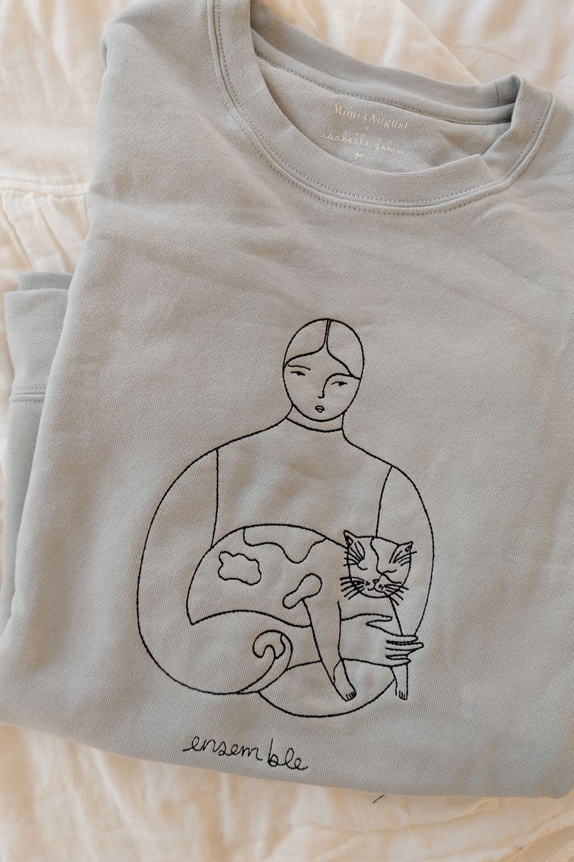 most comfortable sweatshirt design by isabelle feliu x mimi & august