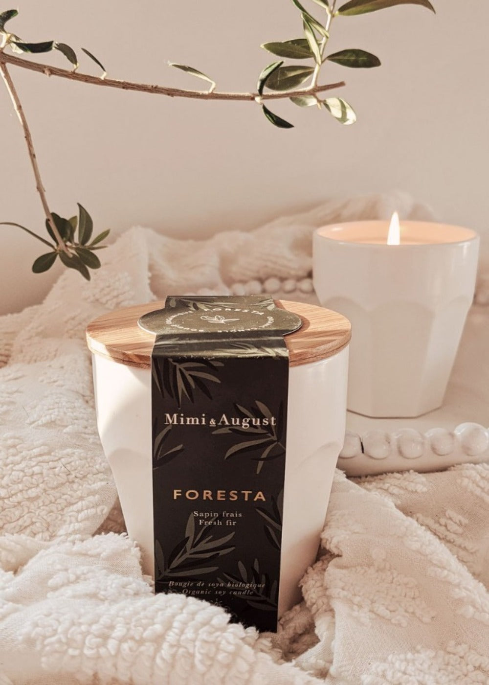 Foresta scented soy wax candle handmade in Canada by Mimi & August