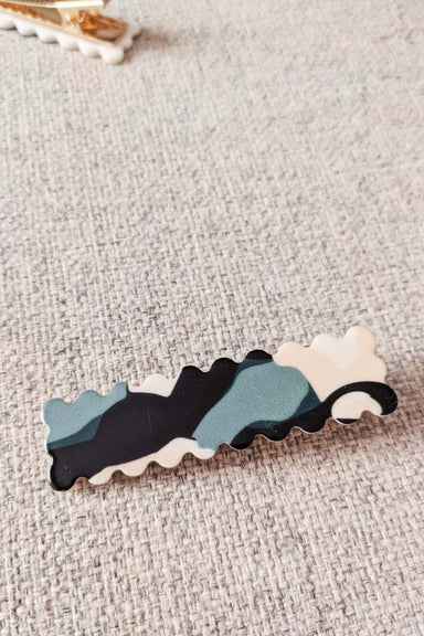 Green Marble Hair Clips Barrettes Accessories for Women Mimi & August