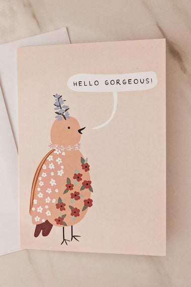Hello Gorgeous | Belle carte de voeux par Mimi & august