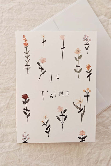 Je t'aime | Beautiful Greeting Card by Mimi & august