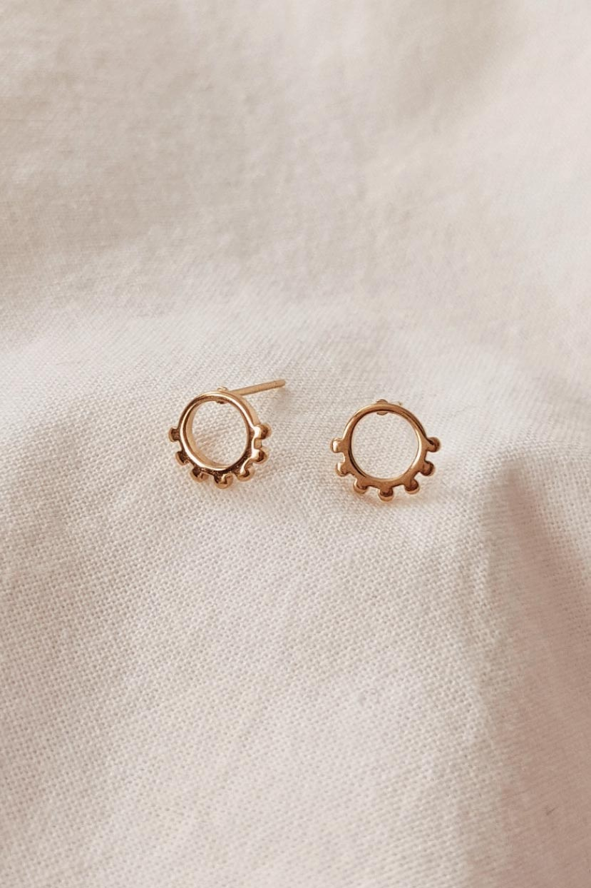 Jimma - High Quality Gold Earrings by Mimi & August