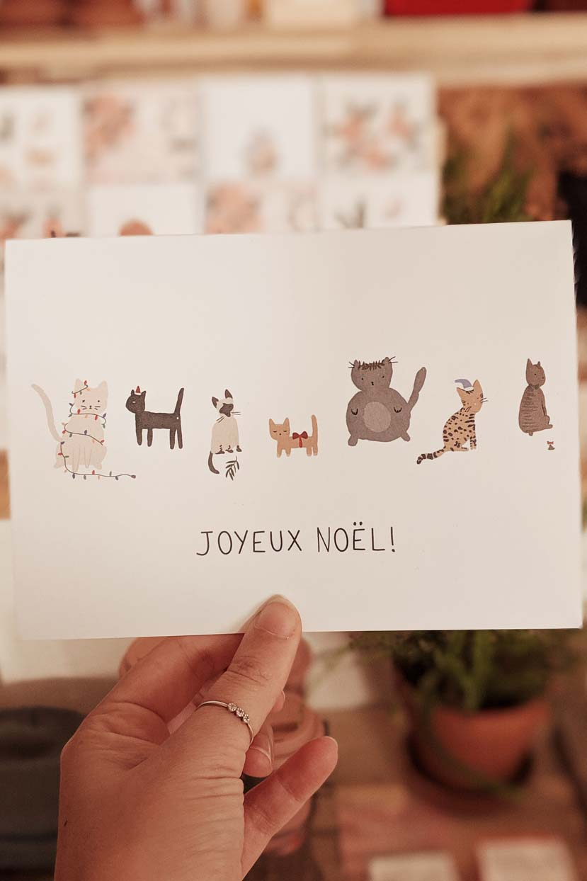Joyeux Noël Cat Version | Beautiful Greeting Card by Mimi and August