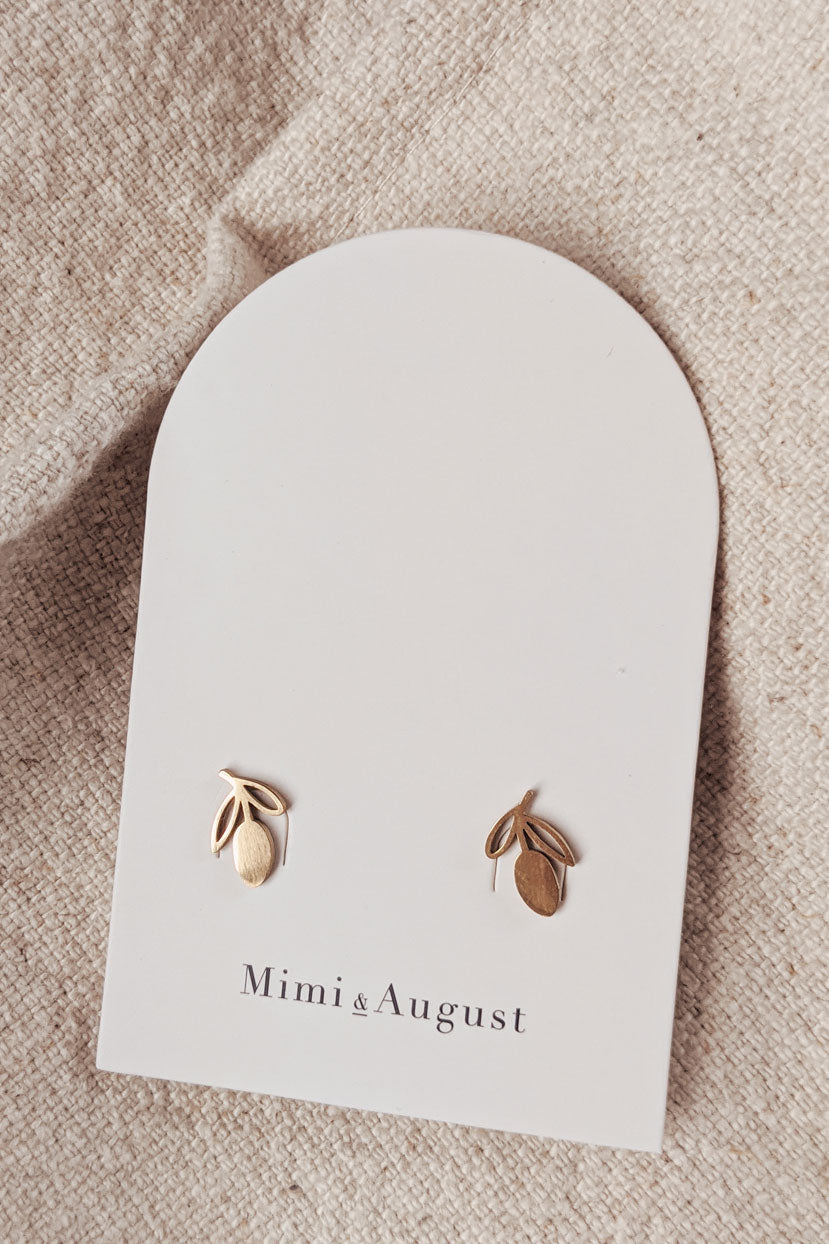 Lemons - High Quality Gold Earrings by Mimi & August