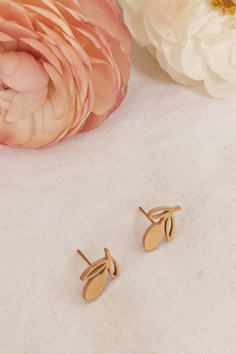 Lemons High Quality Gold Earrings by Mimi & August