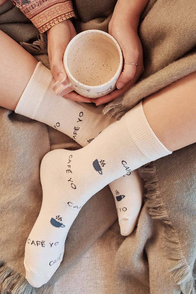 Cafe Yo Comfy Socks caffeinated by Mimi & August