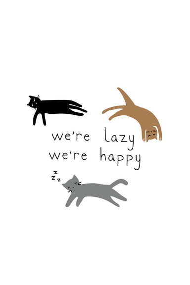 Les Chats Digital Printable Illustration Wall Art by Mimi & August
