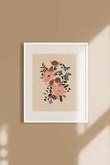les fleurs wall art illustration by mimi & august