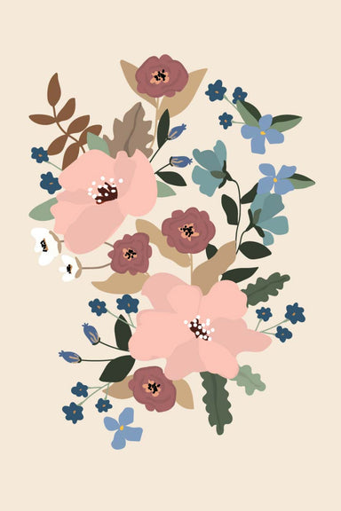Les fleurs Digital Printable Illustration Wall Art by Mimi & August
