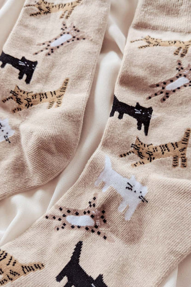 Closer look Les Petits Bas Kitten Comfy Socks Warm by Mimi & August