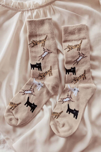 Les Petits Bas - Kitten Comfy Socks Warm Women by Mimi & August