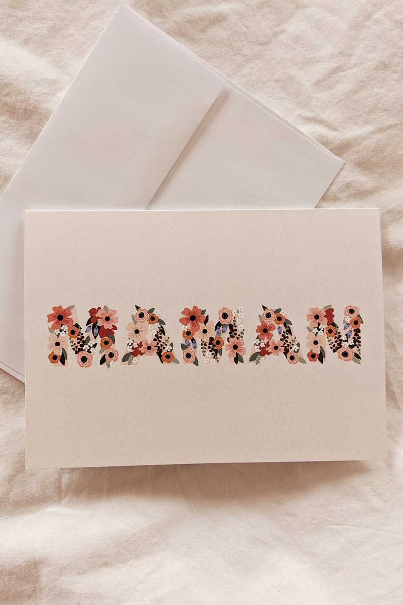 Maman I Love You | Beautiful Greeting Card by Mimi & august