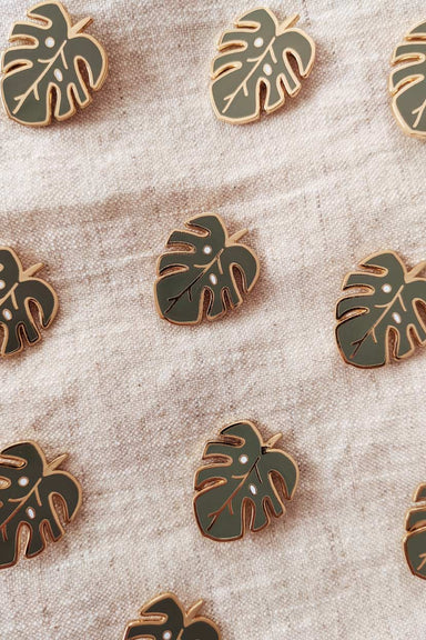 Tropical Monstera plant enamel pin by mimi & august
