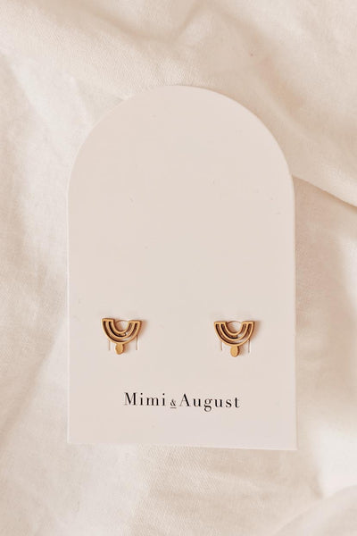 Nairobi style High Quality Gold Earrings by Mimi & August