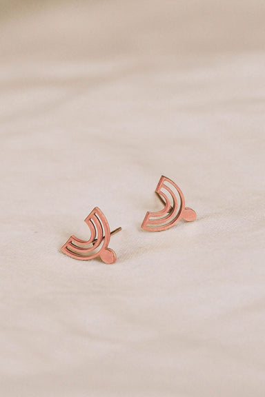 Beautiful earrings rose gold by mimi & august