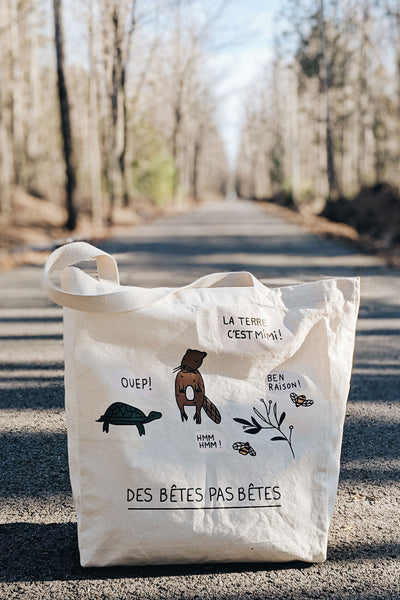 help plant a tree earth day tote bag mimi & august