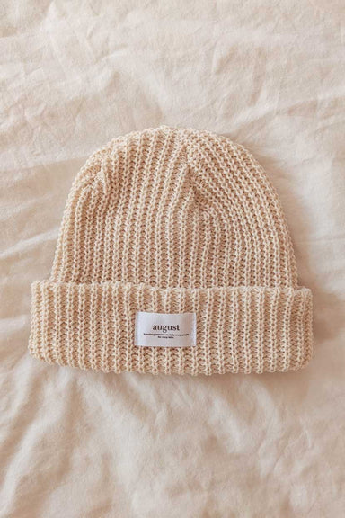 Natural Waffle Organic Cotton Watch Cap Beanie Weather Mimi & August
