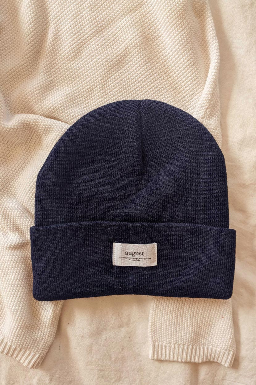 Navy Watch Cap Unisex Beanie Hat Cold Weather Mimi & August
