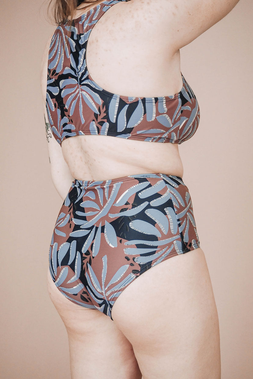 Paloma Water Leaf High Waist Bikini Bottom