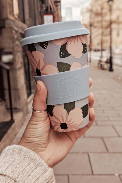 Peonies Reusable Bamboo Café Yo Cup Coffee to go Mimi & August
