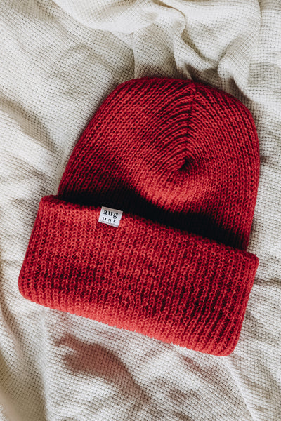Bright Red Watch Cap Beanie by Mimi & August