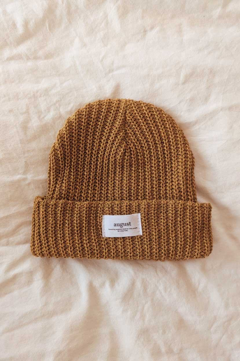 Sienna Waffle  Recycled Organic Cotton Watch Cap Beanie Weather at Mimi & August