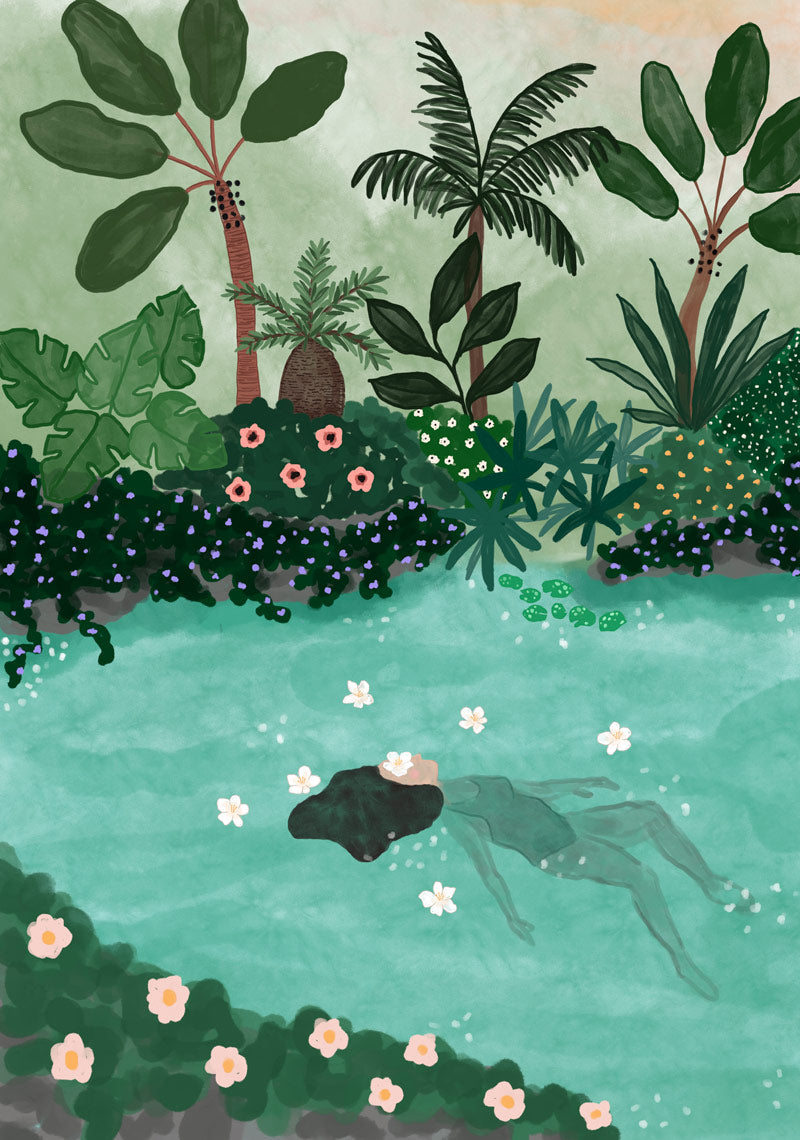 Swimming in the Amazon - High quality wall art print Mimi & August