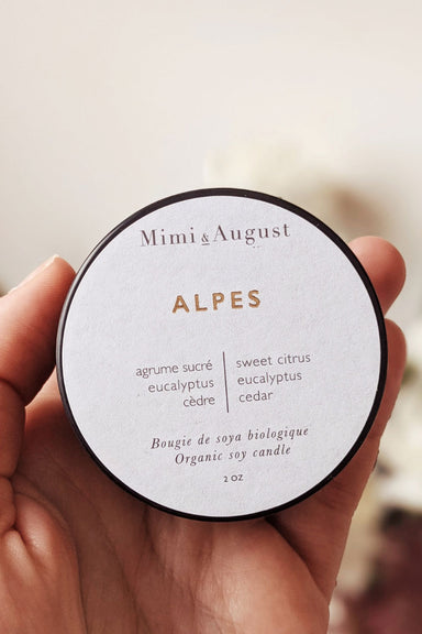 Alpes - scented soy wax mini candle 2oz made in canada Mimi & August