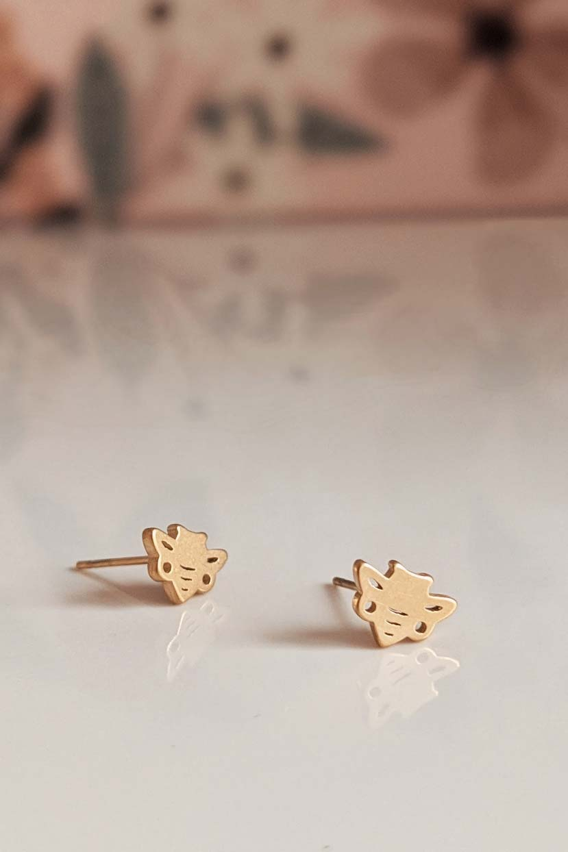 Honey Bees - High Quality Gold Earrings by Mimi & August