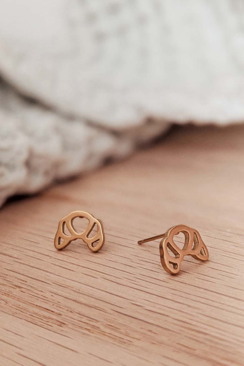Croissant - High Quality Gold Earrings by Mimi & August