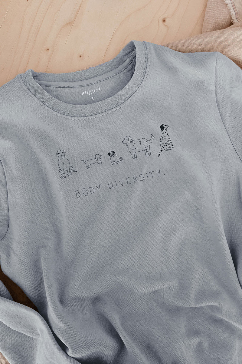 Doggo diversity comfy unisex sweatshirt dog lovers by mimi and august