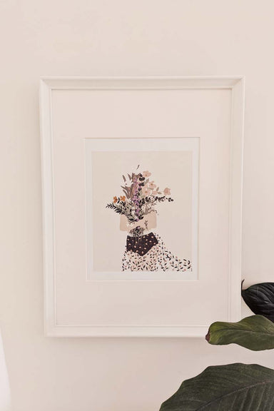 flower girl wall art print home decor by mimi & august