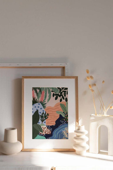 tropical floral stream wall art print home decor by mimi & august