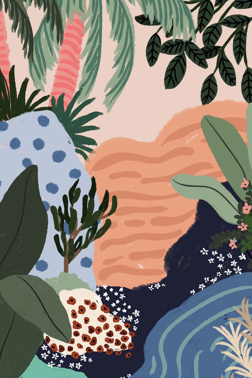 Floral Stream illustration by mimi & august