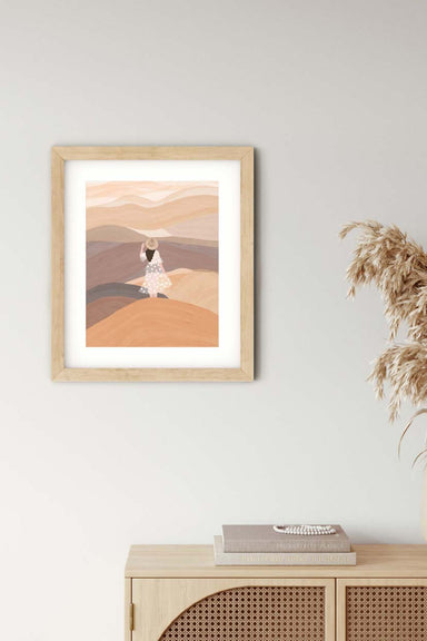Hello Emilie in desert wall art print home decor by mimi & august