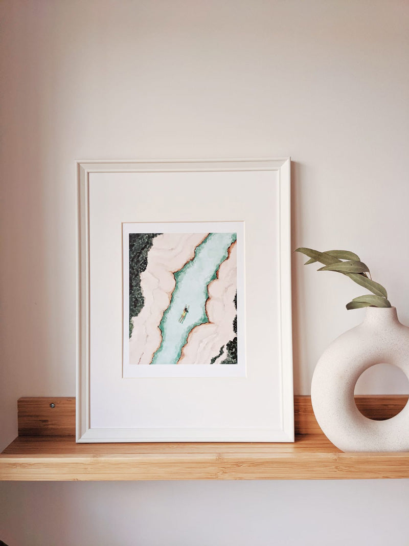 Javari river art print designed and printed in montreal quebec by mimi and august
