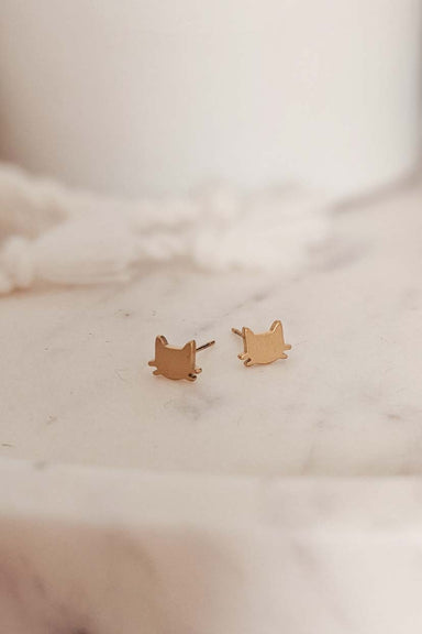 kitten earrings by mimi & august