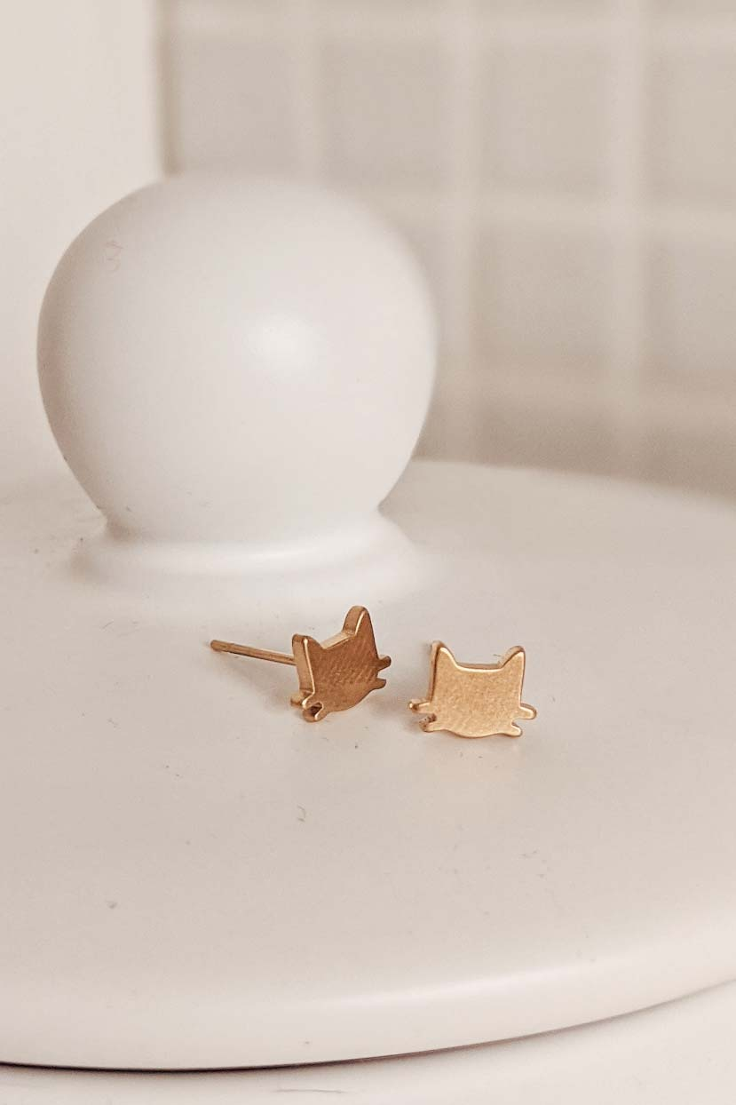 Deux Petits Chats - High Quality Gold Earrings by Mimi & August