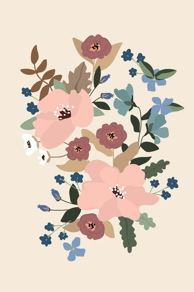 les fleurs beautiful wall art print home decor by mimi & august