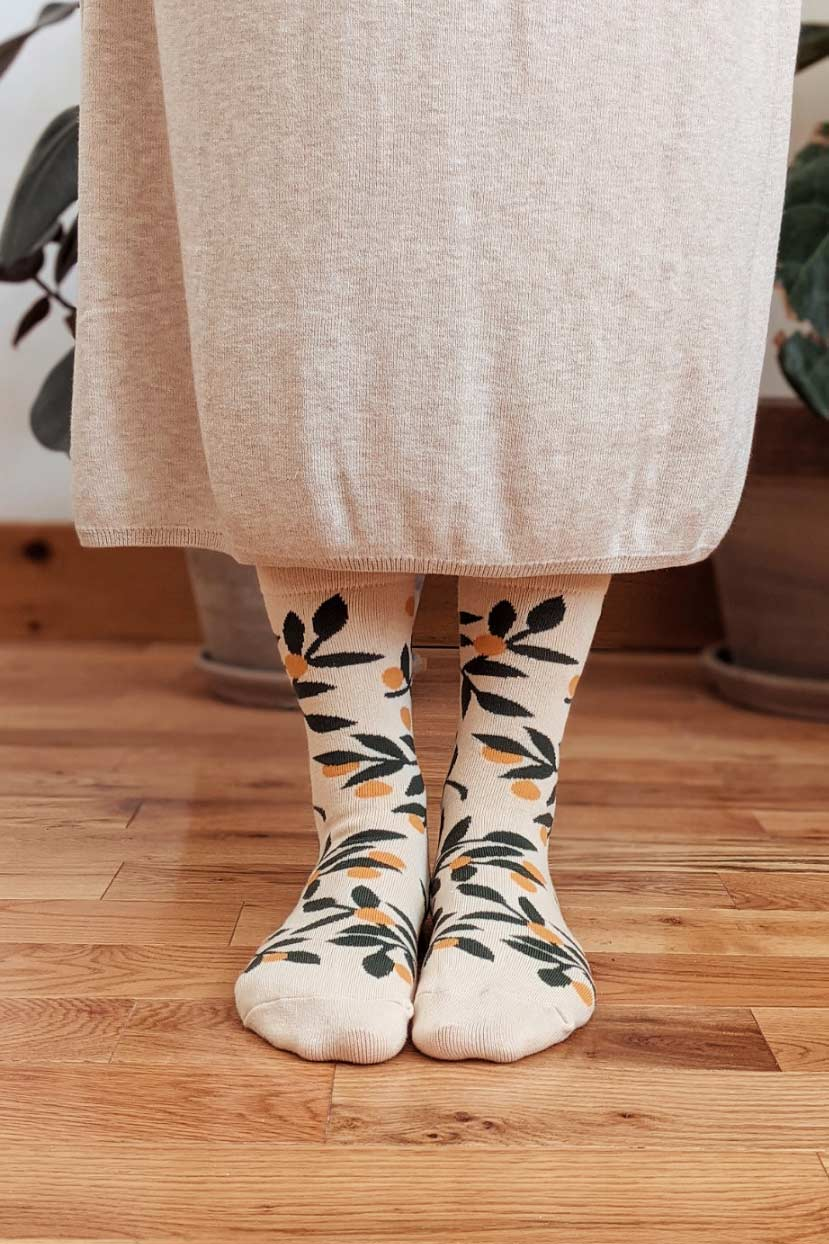 Mandarin comfy socks cotton by mimi & august