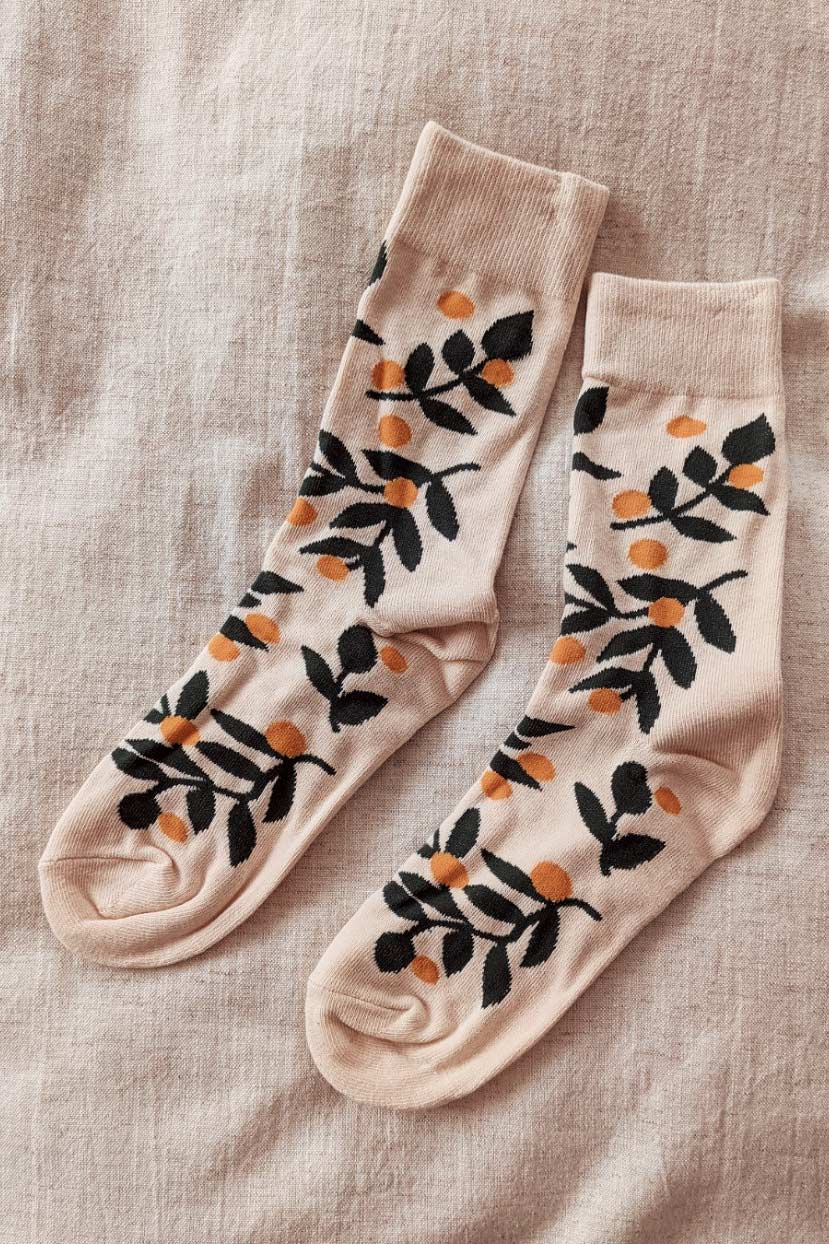 Les Petits Bas - Mandarin Comfy Socks by mimi & august