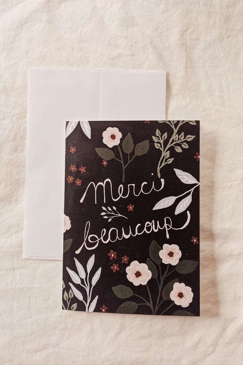Merci Beaucoup | Beautiful Greeting Card by Mimi & august