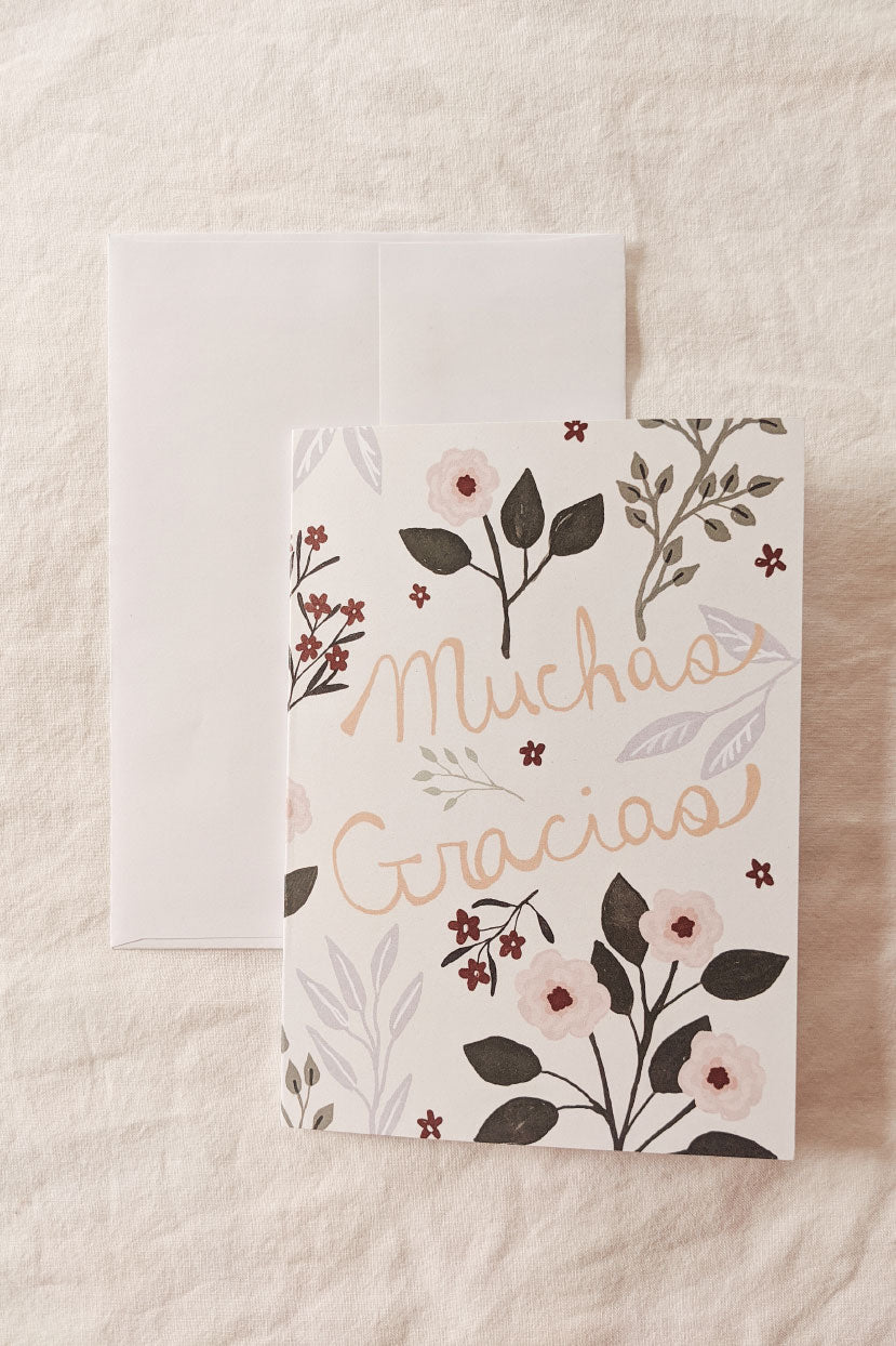Muchas Gracias | Beautiful Greeting Card by Mimi & august
