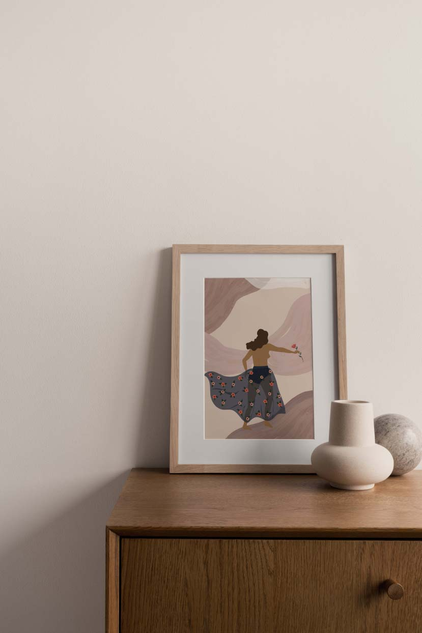 Walking in the wind wall art print home decor by mimi & august