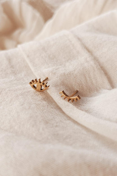 Wink Wink - High Quality Gold Earrings by Mimi & August