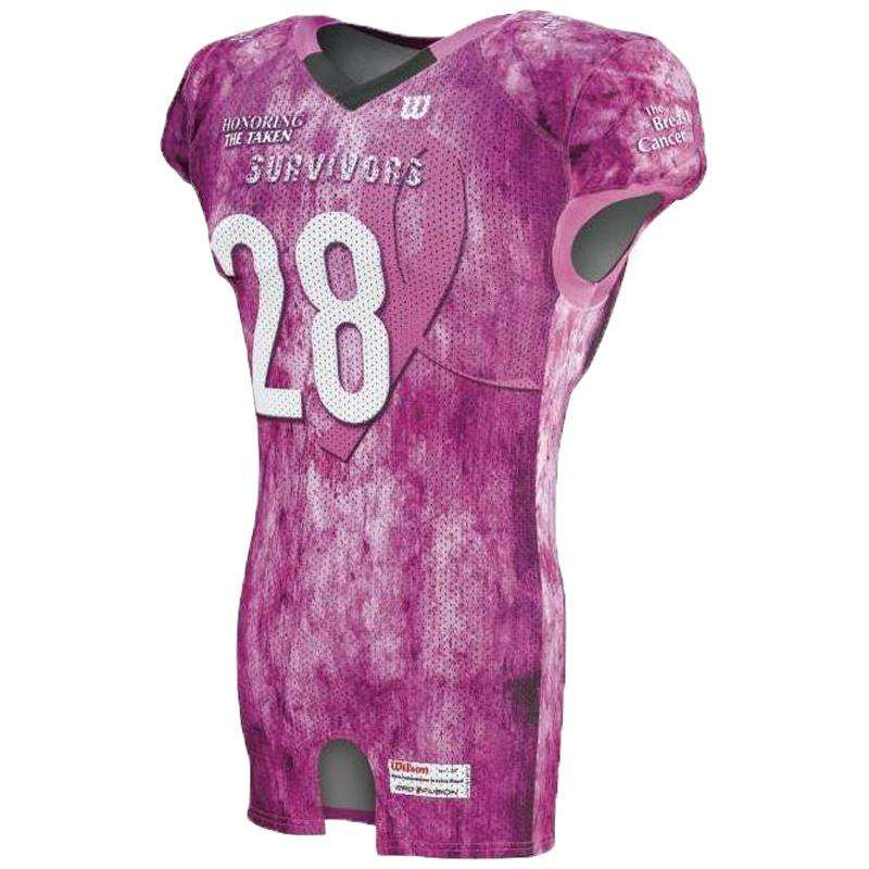 Wilson Adult Sublimated Football Jersey - Survivors - League Outfitters