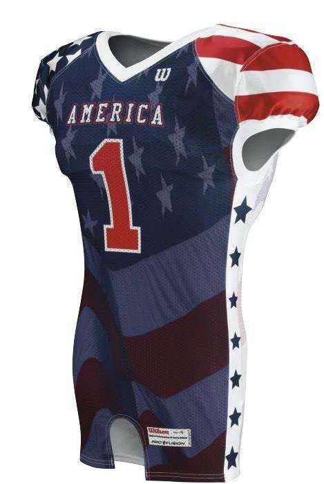 Wilson Adult Sublimated Football Jersey - America - League Outfitters
