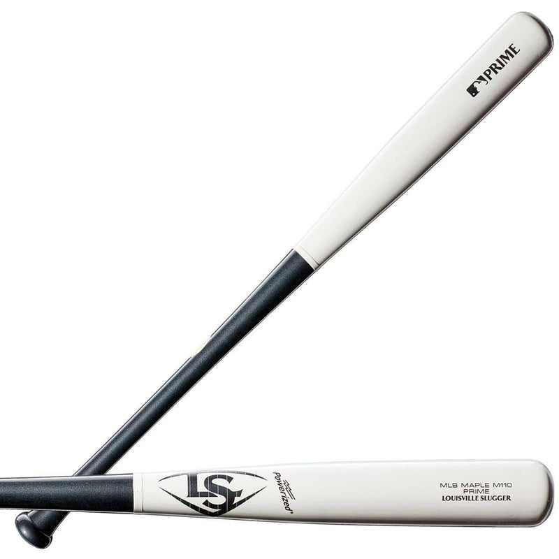 Louisville Slugger MLB Prime M110 White Stripe Maple Wood Baseball Bat - League Outfitters